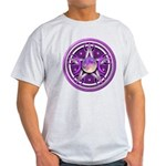Purple Triple Goddess Pentacle Light T-Shirt