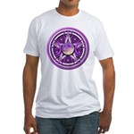 Purple Triple Goddess Pentacle Fitted T-Shirt