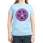 Purple Triple Goddess Pentacle Women's Light T-Shi