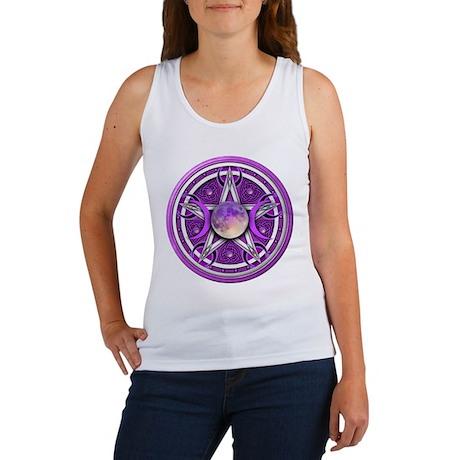 Purple Triple Goddess Pentacle Women's Tank Top