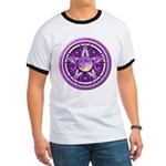 Purple Triple Goddess Pentacle Ringer T