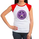 Purple Triple Goddess Pentacle Women's Cap Sleeve