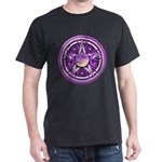 Purple Triple Goddess Pentacle Dark T-Shirt