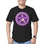 Purple Triple Goddess Pentacle Men's Fitted T-Shir