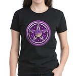 Purple Triple Goddess Pentacle Women's Dark T-Shir