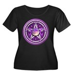 Purple Triple Goddess Pentacle Women's Plus Size S