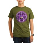 Purple Triple Goddess Pentacle Organic Men's T-Shi