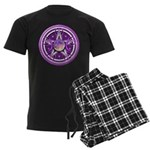 Purple Triple Goddess Pentacle Men's Dark Pajamas