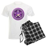 Purple Triple Goddess Pentacle Men's Light Pajamas