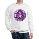 Purple Triple Goddess Pentacle Sweatshirt