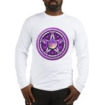Purple Triple Goddess Pentacle Long Sleeve T-Shirt
