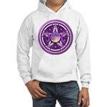 Purple Triple Goddess Pentacle Hooded Sweatshirt