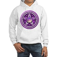 Purple Triple Goddess Pentacle Hoodie