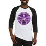 Purple Triple Goddess Pentacle Baseball Jersey