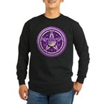 Purple Triple Goddess Pentacle Long Sleeve Dark T-