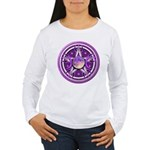 Purple Triple Goddess Pentacle Women's Long Sleeve