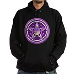 Purple Triple Goddess Pentacle Hoodie (dark)