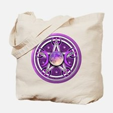 Purple Triple Goddess Pentacle Tote Bag