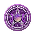 Purple Triple Goddess Pentacle Ornament (Round)