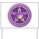 Purple Triple Goddess Pentacle Yard Sign