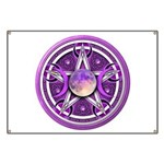 Purple Triple Goddess Pentacle Banner