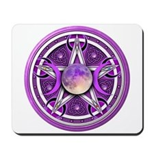 Purple Triple Goddess Pentacle Mousepad
