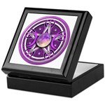 Purple Triple Goddess Pentacle Keepsake Box
