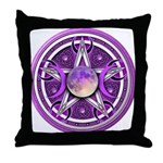 Purple Triple Goddess Pentacle Throw Pillow