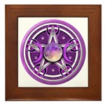 Purple Triple Goddess Pentacle Framed Tile