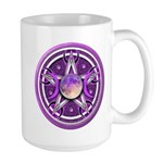 Purple Triple Goddess Pentacle Large Mug