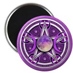 Purple Triple Goddess Pentacle Magnet