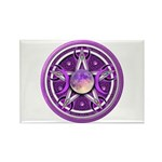 Purple Triple Goddess Pentacle Rectangle Magnet (1