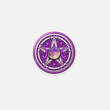 Purple Triple Goddess Pentacle Mini Button