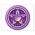 Purple Triple Goddess Pentacle Small Poster