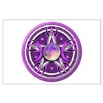 Purple Triple Goddess Pentacle Large Poster