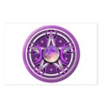 Purple Triple Goddess Pentacle Postcards (Package