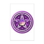 Purple Triple Goddess Pentacle Mini Poster Print