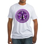 Pentacle of the Purple Goddess Fitted T-Shirt