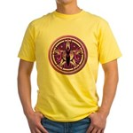 Pentacle of the Purple Goddess Yellow T-Shirt