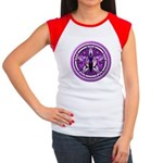 Pentacle of the Purple Goddess Women's Cap Sleeve