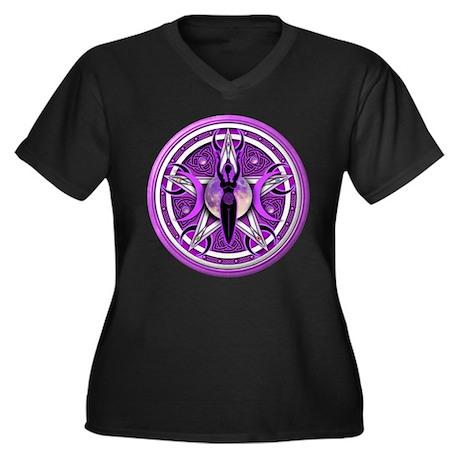 Pentacle of the Purple Goddess Women's Plus Size V