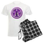 Pentacle of the Purple Goddess Men's Light Pajamas