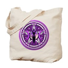 Pentacle of the Purple Goddess Tote Bag