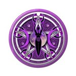 Pentacle of the Purple Goddess Ornament (Round)