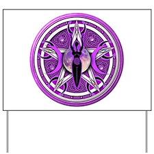 Pentacle of the Purple Goddess Yard Sign
