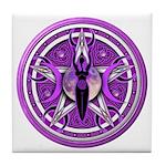Pentacle of the Purple Goddess Tile Coaster