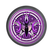 Pentacle of the Purple Goddess Wall Clock