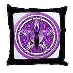 Pentacle of the Purple Goddess Throw Pillow