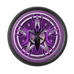 Pentacle of the Purple Goddess Large Wall Clock