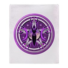 Pentacle of the Purple Goddess Throw Blanket